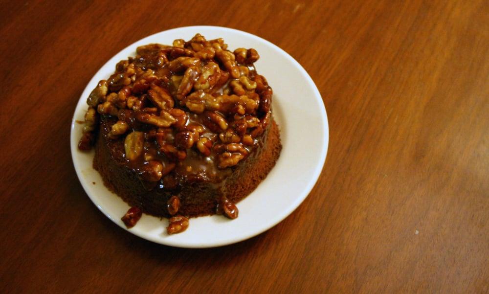 Banana Walnut Caramel Cake