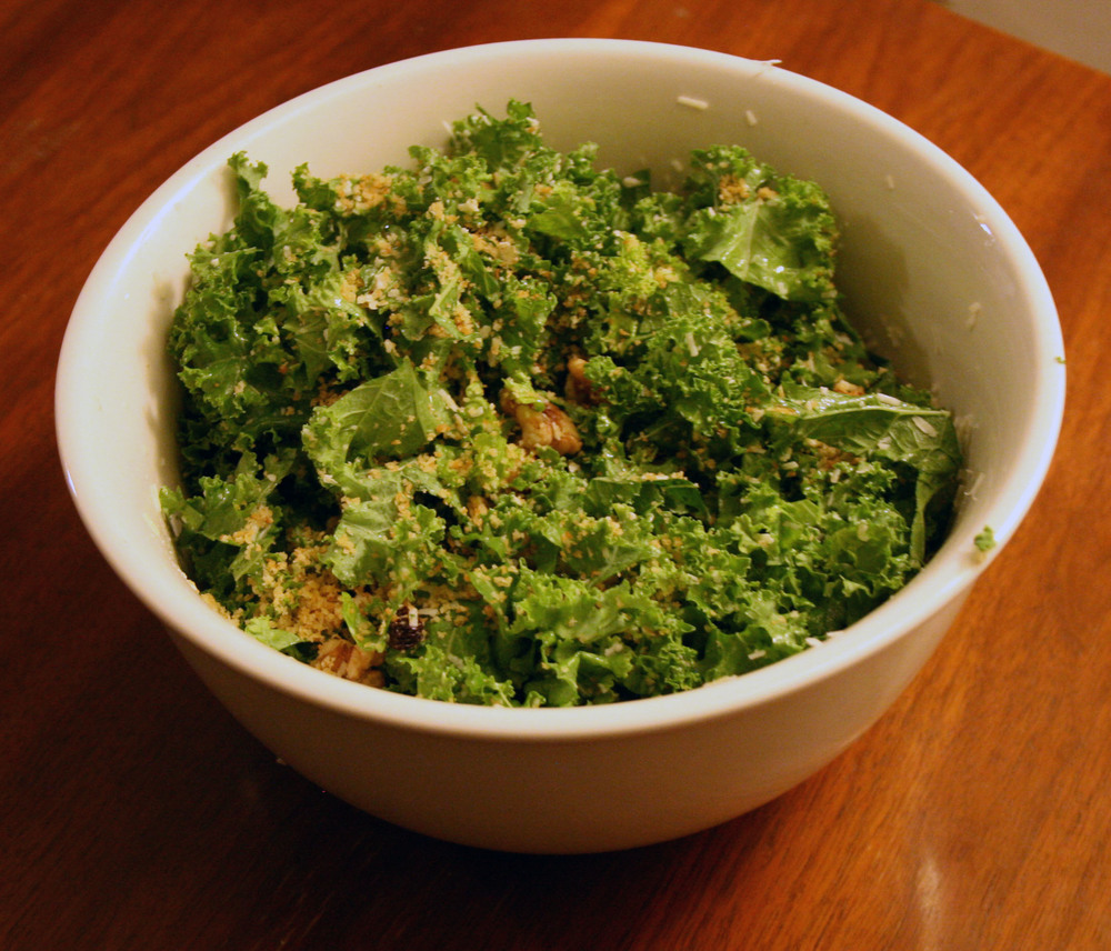 Kale Walnut Pecorino Salad