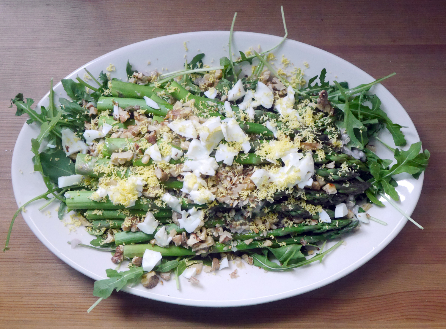 Warm Asparagus & Walnut Salad
