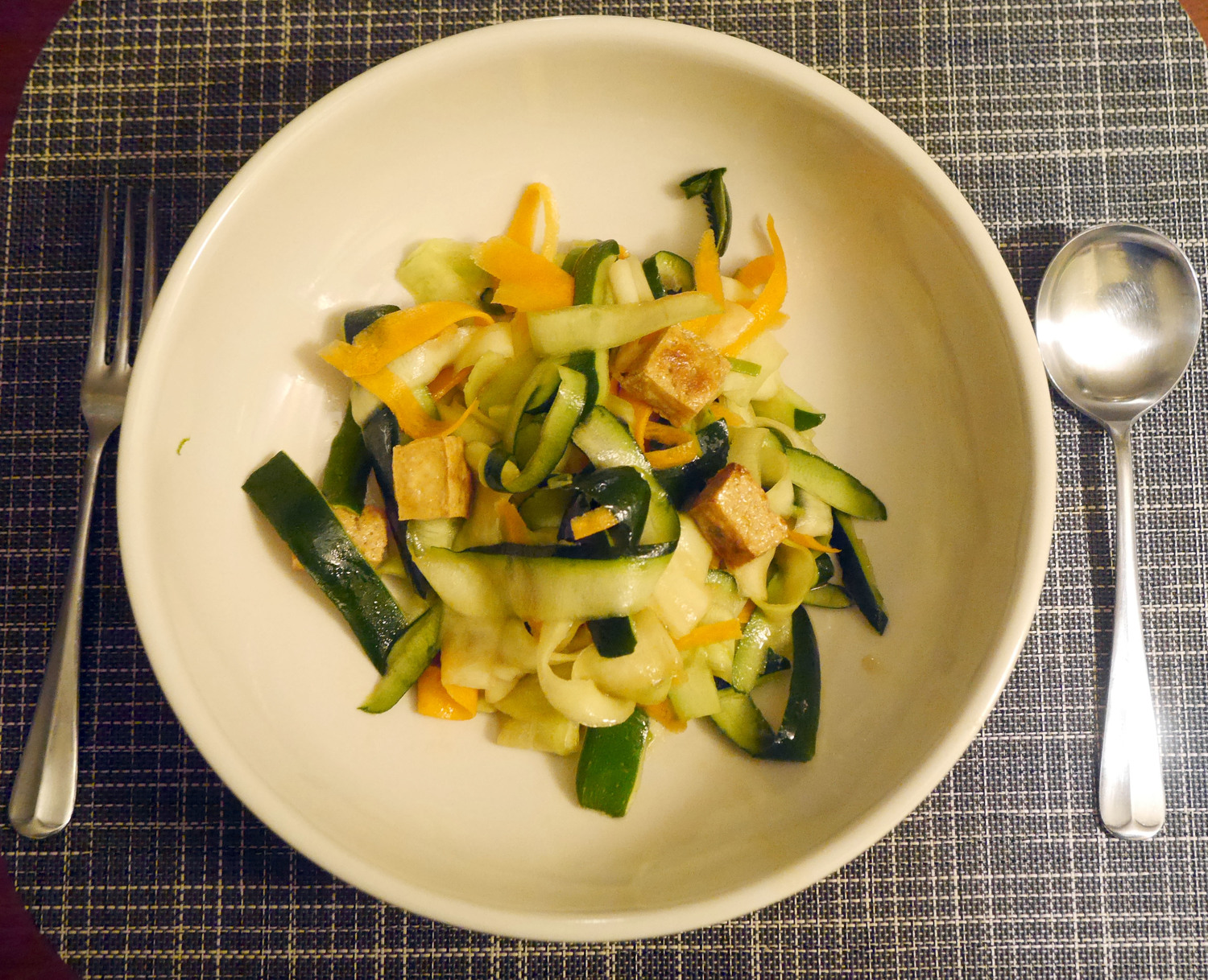 Healthy, Easy Zucchini Noodles with Tofu
