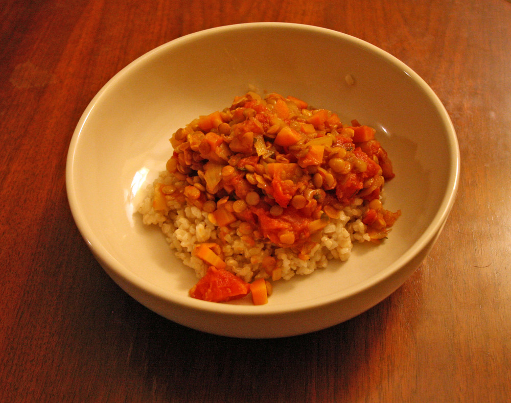 Lentils and Tomatoes Stew